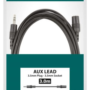 3.5mm Stereo Plug to 3.5mm Stereo Socket Leads