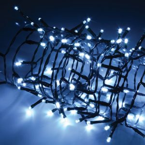 LED Outdoor String Lights with Auto-timer Control