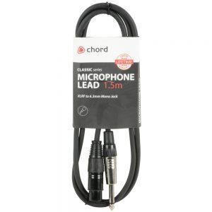 Classic Microphone Leads XLR Female – 6.3mm Mono Jack Plug