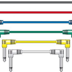 Classic Audio Patch Lead Sets 6.3mm Mono Jack Plug – 6.3mm Mono Jack Plug 6pcs