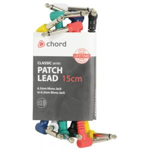 Classic Audio Patch Lead Sets 6.3mm Mono Jack Plug – 6.3mm Mono Jack Plug 6pcs