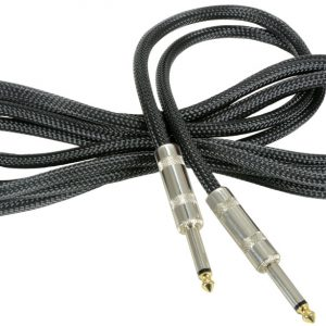 Classic Retro Braided Guitar Leads 6.3mm Mono Jack Plug – 6.3mm Mono Jack Plug