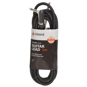 Classic Retro Braided Guitar Leads 6.3mm Right Angled Mono Jack Plug – 6.3mm Mono Jack Plug