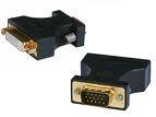 DVI Plug To VGA Socket Adaptor