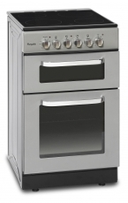Montpellier Cooker Double Oven Ceramic 60cm Silver