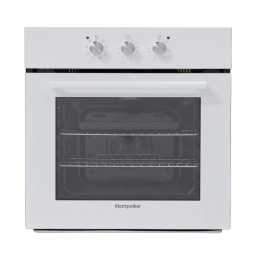 MONTPELLIER WHITE SINGLE MULTIFUNCTION OVEN