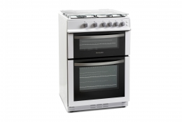 Montpellier Cooker Double Gas 60cm White