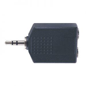 3.5mm Stereo jack plug – 2 x 6.3mm Mono jack socket