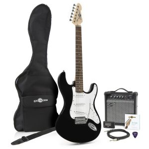 CAL63PK Electric Guitar & Amp Package Black