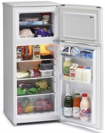 ICEKING WHITE 48CM WIDE TOP MOUNT FRIDGE FREEZER