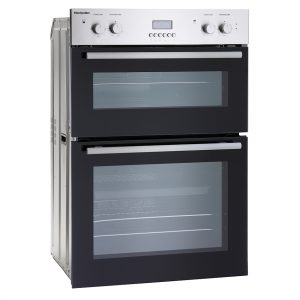 MONTPELLIER STAINLESS STEEL BUILT IN DOUBLE FAN OVEN