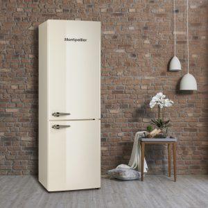Montpellier MAB385K/R Retro Fridge Freezer