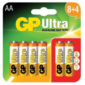 GP Ultra Alkaline Batteries (8 + 4)