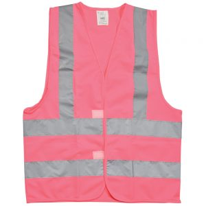 High visibility Waistcoat Pink
