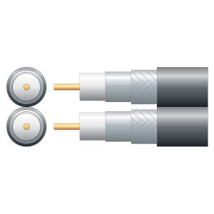 Economy Twin RG6 75 Ohms Foam Filled Coaxial Cable – Aluminium Braid
