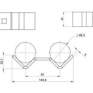 Aluminium Modular Stage System: Round Leg Clamp