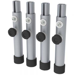 Aluminium Modular Stage System: Round Telescopic Legs