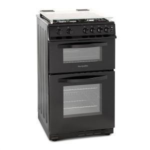 MONTPELLIER GAS COOKER DOUBLE OVEN 50CM BLACK